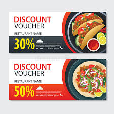 element cuisine discount discount voucher food template design set of kebab stock