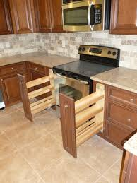 creative kitchen cabinet ideas fabuwood elite door style cinnamon glaze spice pull out 7th