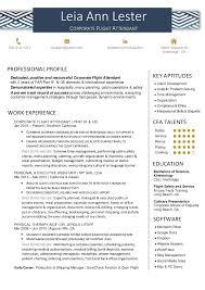 Resume Flight Attendant Leia Lester Corporate Flight Attendant Resume 2017