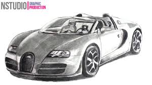 car drawing how to draw bugatti veyron sport car step by step car drawing