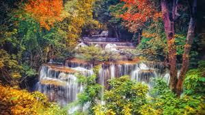 1920x1080 fall wallpaper 1920x1080 autumn trees waterfall cascade desktop pc and mac wallpaper