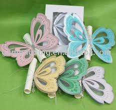 sale unique butterfly shape invitation cards with