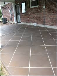 How To Stain Concrete Patio Yourself New U201ctile U201d Patio Floor Reveal Beneath My Heart