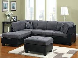 Black Microfiber Sectional Sofa Microfiber Sectional Sofa Or Stunning Grey Microfiber