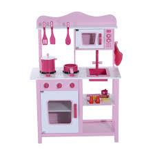 Childrens Wooden Kitchen Furniture Homcom Kids Wooden Play Kitchen Set Pink Aosom Co Uk