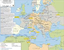 Map Of Eu Map Of Wwii Major Operations In Europe