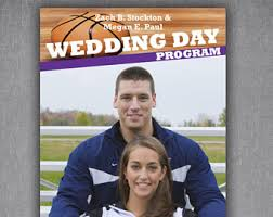 magazine wedding programs wedding magazine etsy