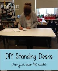 Lifehacker Standing Desk Ikea Uncategorized Standing Desk Diy In Inspiring A Bargain Diy Ikea