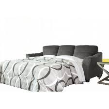 charcoal queen sofa chaise sleeper