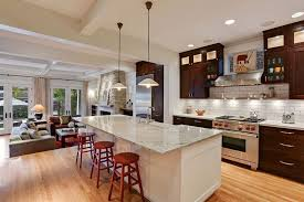 granite kitchen island 50 gorgeous kitchen designs with islands designing idea