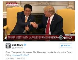 Where Does Donald Trump Live Prime Minister Abe And President Donald Trump Lock Gazes In Long