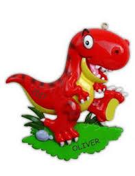 personalized dinosaur kids christmas ornament t rex dibsies