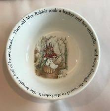 rabbit wedgwood rabbit cereal bowl wedgwood china dinnerware ebay