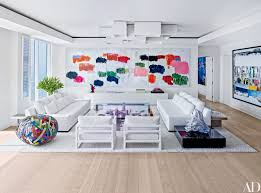 White Modern Living Room 13 White Living Rooms Photos Architectural Digest