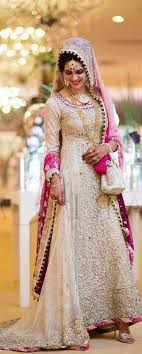 wedding dress in pakistan pink and white asian bridal dress brides