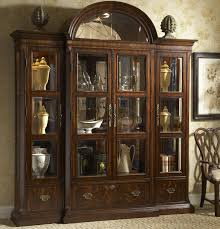 funiture traditional dark brown wooden china cabinet and buffet