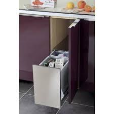 poubelle inox cuisine poubelle coulissante encastrable 2 bacs 24l accessoires de cuisine