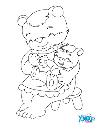 mama bear and her cub coloring pages hellokids com
