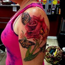collection of 25 butterfly with roses
