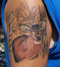tribal stag tattoo 25 fantastic hunting tattoos creativefan tattoos pinterest