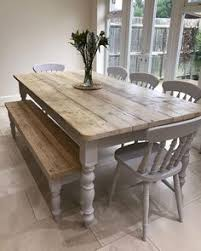 dining room tables with bench farmhouse table with light grey base and distressed dark grey top