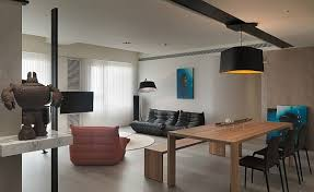 Asian Modern Furniture by Modern Apartment Plan With Neutral Colors And Bold Accents