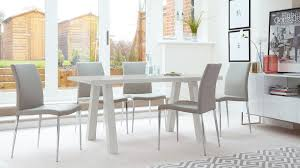 modern grey dining table modern grey gloss 6 seater dining set faux leather uk
