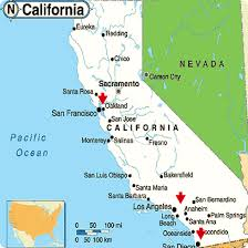 Ojai California Map Ca Map Usa Pomona California Map Sacramento Valley On Us Map Usa