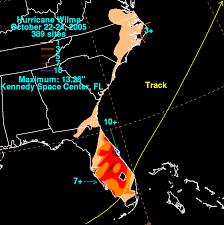 Rainfall Totals Map Hurricane Wilma October 22 24 2005