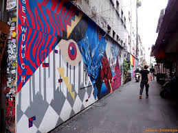 which side does st go on footsteps jotaro s travels art gallery taiwan street art