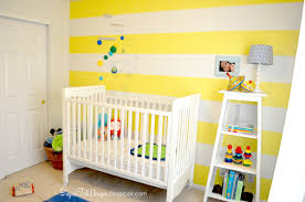 bedroom nice yellow nursery theme for baby room with striped