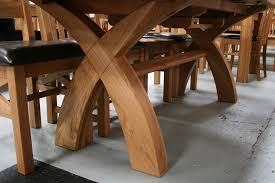 rustic oak dining table how to make rustic dining table vancouver cross leg oval end seater