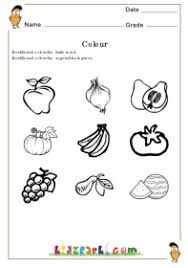 colour the picture color worksheets for kindergarten pre