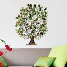 Wall Hanging Picture For Home Decoration Indian Handicraft Metal Tree Of Life Bird Sculpture Art Wall
