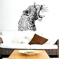 wall ideas leopard print wall decor animal print room decor angry cheetah head pattern art wall murals home livingroom special jungle aniamls series decorative vinyl wall