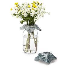 jar vase flower top set and jar vase flower frog flower holder
