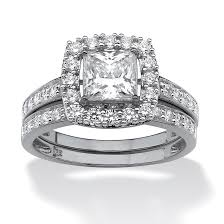 princess cut cubic zirconia wedding sets wedding rings cz engagement rings that look real best cubic