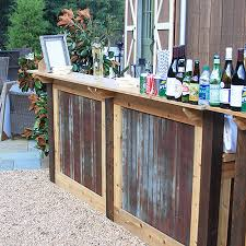 bar rentals rustic portable bar rental for weddings and oconee events