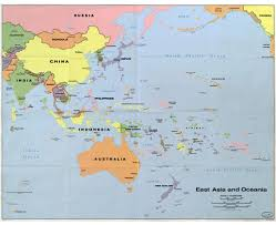 map of australia and oceania countries and capitals maps of oceania and oceanian countries political maps road and