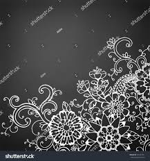 chalkboard halloween cat clear background hand drawn doodle flower border on stock illustration 291423521