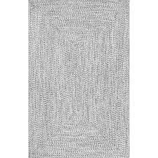 Black And White Braided Rug Nuloom Handmade Casual Braided Blue Indoor Outdoor Rug 8 U00276 X 11 U00276