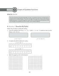 grade 9 mathematics unit 2 quadratic functions