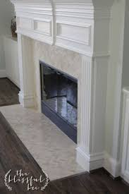 Mosaic Tile Fireplace Surround by Cream Herringbone Stone Mosaic Tile Stone Mosaic Hearths And