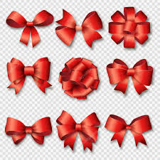 birthday ribbons ribbons set for christmas or birthday gifts stock vector