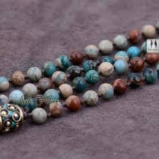 natural beads necklace images Mixed natural jasper beads necklace with long tassel luxury jpg