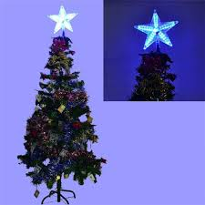 led christmas star tree topper christmas lights decoration