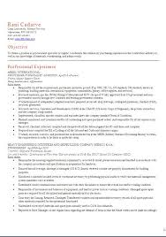 Procurement Specialist Resume Samples by Procurement Resume Samples Csat Co