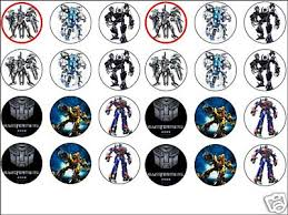 transformer cake topper 24x mixed transformers 1 6 wafer cup cake toppers