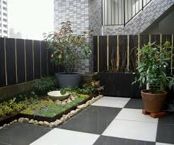 corner garden with small scale for freshen house look pretty