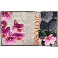 tapis de cuisine violet tapis cuisine tapis cuisine orchidee antiderapant taille 50 x 80